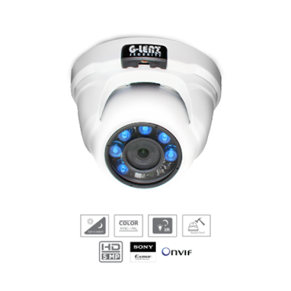 GEIP-32500 IP CAMERA SONY EXMOR IMX178-5.0MP (POE) INDOOR