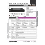 GFDS-87408 8Ch 5-IN-1 DVR STANDALONE XMEYE (4MP)  SUPPORT 2 HDD
